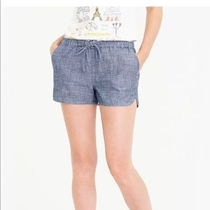 J crew draw string shorts